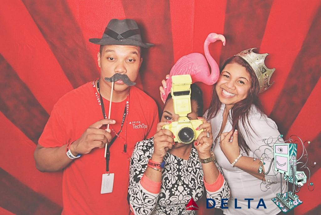 7-10-14 Atlanta Delta  Air Lines Reservations Building - CARE REFUNDS #1 DOT Celebration - RobotBooth01