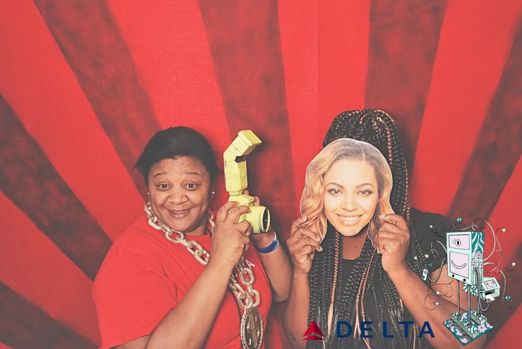 7-10-14 Atlanta Delta  Air Lines Reservations Building - CARE REFUNDS #1 DOT Celebration - RobotBooth03