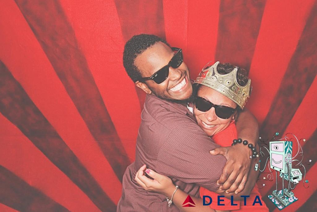 7-10-14 Atlanta Delta  Air Lines Reservations Building - CARE REFUNDS #1 DOT Celebration - RobotBooth06