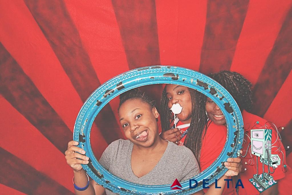 7-10-14 Atlanta Delta  Air Lines Reservations Building - CARE REFUNDS #1 DOT Celebration - RobotBooth08