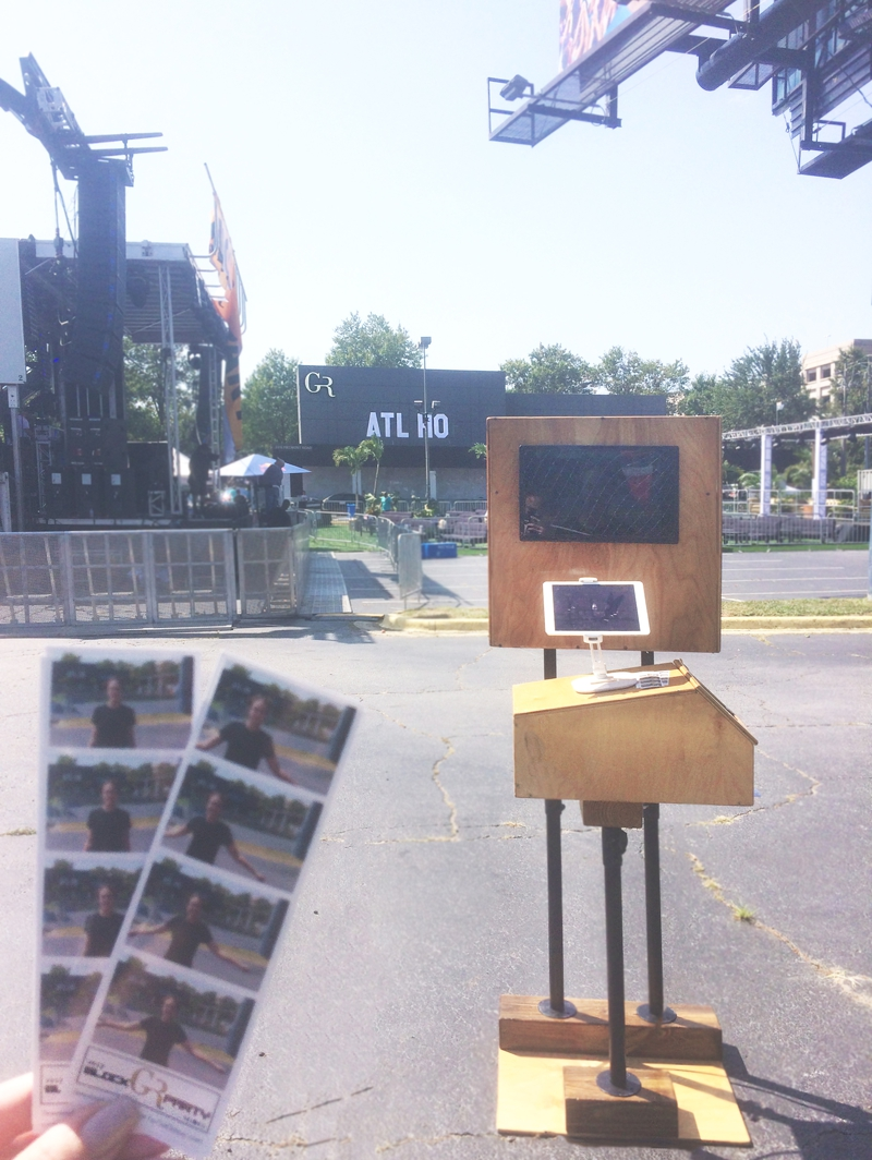Gold Room Block Party With Diplo - Atlanta Photo Booth Rental - Robot Booth 1